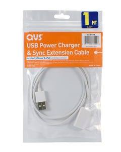 USB Power Charger & Sync Extension Cable for iPod/iPhone/iPad