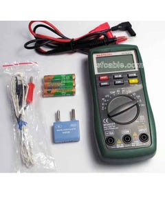 Digital Multimeter Mastech MS8221 Auto/Manual Ranging with backlight and battery tester