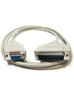 6ft DB9 Female to DB25 Male 8C HP Plotter - Laser Serial Printer Cable