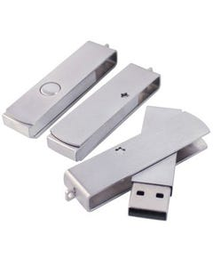 1GB USB Metal Streak and Swivel Flash Drive