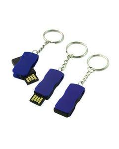 1GB USB Mini-Swivel Key Ring Flash Drive