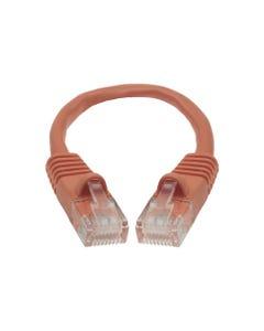 0.5ft Cat5E Unshielded (UTP) Ethernet Network Cable - Orange