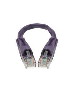 0.5ft Cat5E Unshielded (UTP) Ethernet Network Cable - Purple