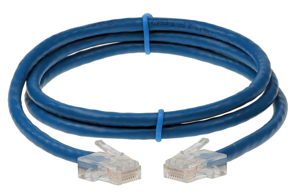 SF Cable 100ft Cat 6A Unshielded Ethernet Network Cable 24AWG Yellow 500MHz UTP