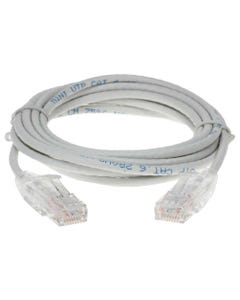 5ft Cat6 UTP Slim Ethernet Network Booted Cable 28AWG 3.6mm-White
