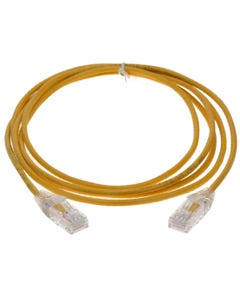 1ft Cat6 UTP Slim Ethernet Network Booted Cable 28AWG 3.6mm-Yellow
