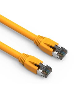 2ft Cat8 Shielded (S/FTP) Network Ethernet Booted Cable - Yellow