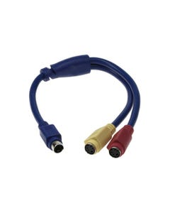 "12"" S-Video Mini4 Male to Two Female Splitter Cable"