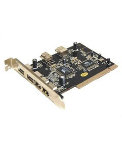 3 Port USB 2.0 & 3 Port Firewire IEEE 1394 PCI Combo Adapter