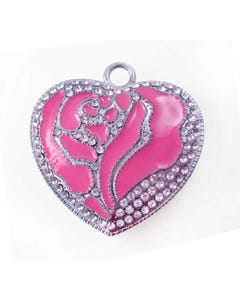 USB Shimmering Heart Flash Drive
