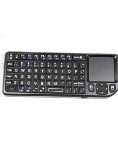 Rii Portable 2.4GHz Mini Wireless Keyboard Handheld Rechargeable Keyboard Touchpad Elegance  (Black)