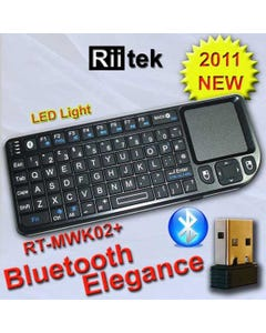 Rii Mini Wireless Bluetooth Keyboard TouchPad Combo Laser Pointer
