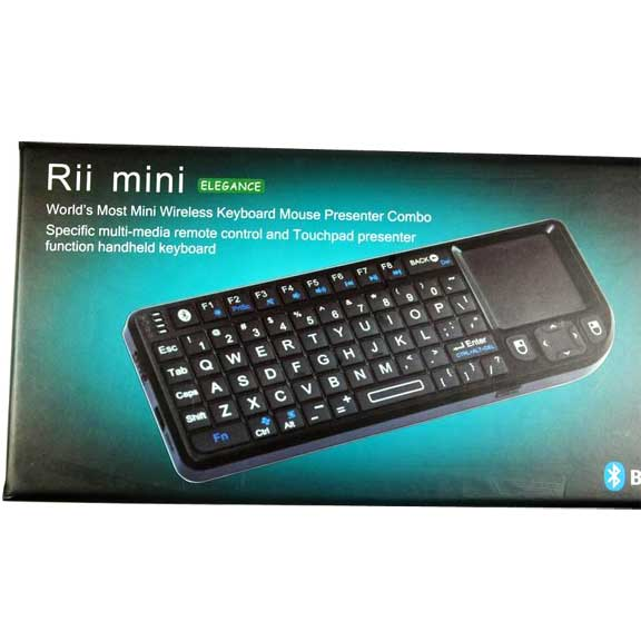 506885c551a Rii Mini Wireless Bluetooth Keyboard TouchPad Combo Laser Pointer ...