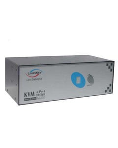 4 Port Linkskey Dual Monitor Enhanced DVI KVM Switch w/ Cables