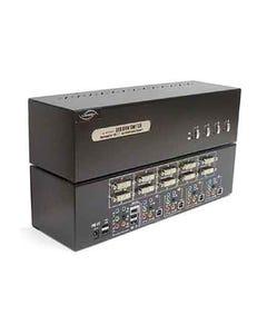 4 Port Linkskey Dual Monitor DVI/DVI USB KVM + 7.1/MIC/USB w/ cables