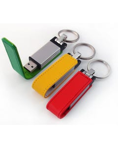 1GB USB Bold Color Leather Flash Drive