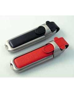 USB Flip Top Leather Flash Drive