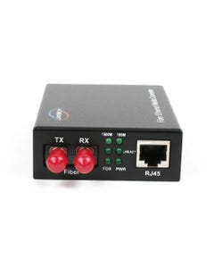 1000TX to 1000FX Multi-Mode ST Fiber Converter (550m, 1804ft)