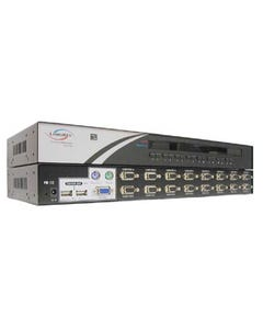 "16 Port Linkskey USB/PS2 KVM Switch 19"" Rackmount 1U"