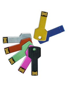 2GB USB Color Code Key Flash Drive - 1
