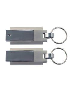1GB USB Two-tone Key Ring Flash Drive