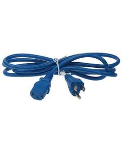 6ft 18 AWG NEMA 5-15P to C13 Standard Power Cord - Blue