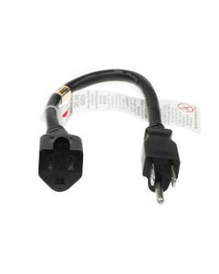 NEMA 5-15P to NEMA 5-15R Outlet Saver Power Extension Cord