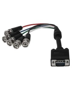 0.75ft HD15 VGA Male to 5 BNC Male Cable