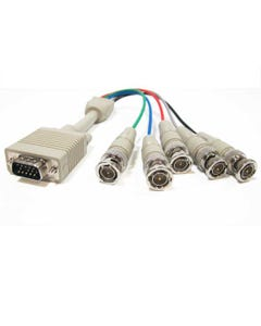 1ft HD15 VGA Male to 5 BNC Male Cable-RB10-01
