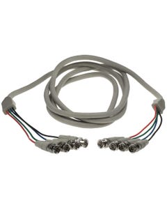 10ft 4 BNC Male to 4 BNC Male Cable
