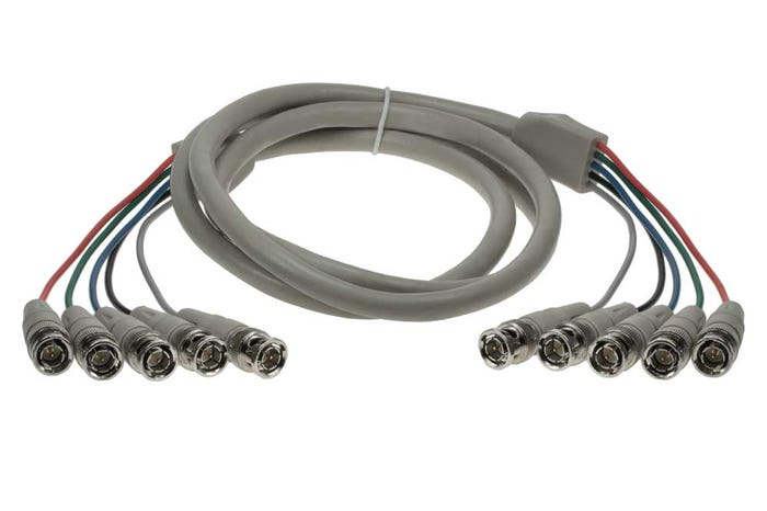 5 BNC Male to 5 BNC Male Cable
