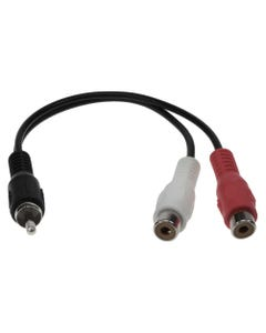 RCA 1 Male to 2 RCA Female Splitter Cable