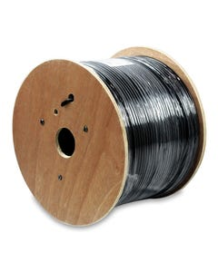 1000ft Cat 6 500MHz STP Direct Burial Outdoor Cable Black