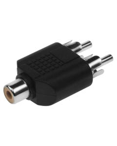 2 RCA Male to 1 RCA Female Adapter