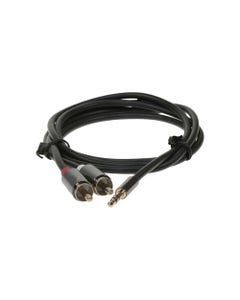 3.5mm Male to 2 RCA Male cable with tiny & metal connector