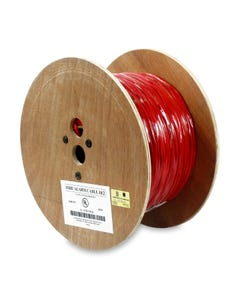 1000ft 18/2 Unshielded Fire Alarm Solid Wire Bare Copper Cable