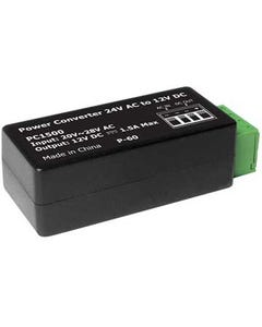 Power Converter 24V AC to 12V DC up to 1500mA