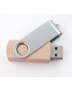 USB Contrast Texture Swivel Flash Drive