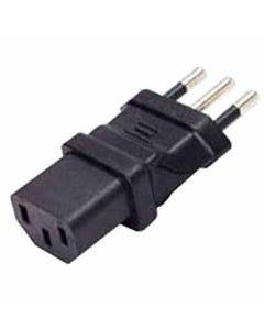 C13 to Italy CEI 23-16 Power Plug Adapter