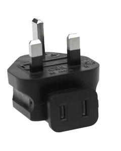 USA NEMA 1-15R to UK Fused BS1363 Angled Power Plug Adapter