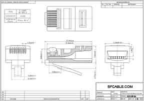 RJ45 Cat5e Plug Solid 50 Micron 3 Prong 100 pcs