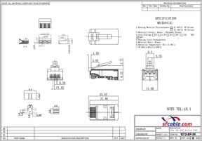 RJ45 Cat.6A Shielded Plug Solid 50 Micron 3pc Type 100pk