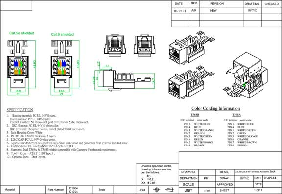 cat 5e rj45 110 type shielded keystone jack sfcable cat5e keystone jack wiring diagram keystone cat5e jack pinout