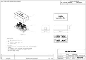 Cat 5E Junction Box, Punch Down Type