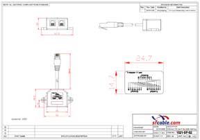 10/100 BaseT 1P/2J 07 Wiring Splitter, Pigtail Type