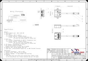 10/100 BaseT RJ45 1P/2J 08 Wiring Splitter,Pigtail Type