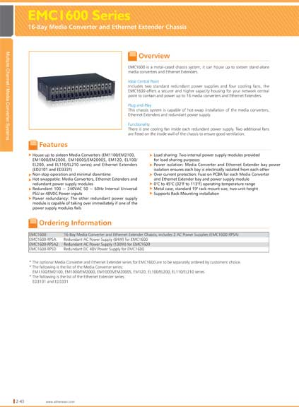 EtherWAN 16Bay Media Converter & Ethernet Extender Chassis