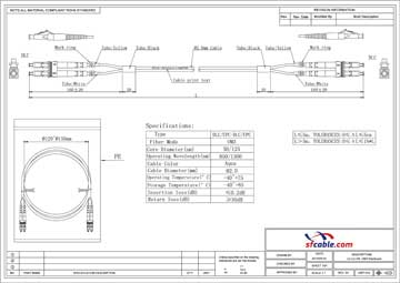 LC-LC 10Gb 50/125 LOMMF M/M Duplex Fiber Optic Cable