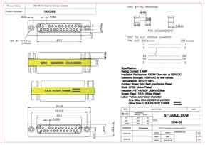 DB25 F/F Mini Gender Changer (Coupler)