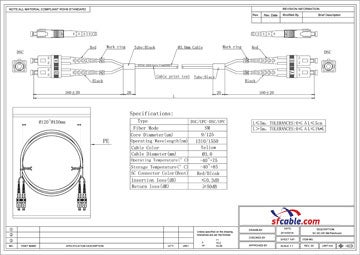 SC -SC Singlemode Duplex 9/125 Fiber Optic Cable